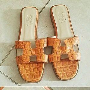 Shoes - H Paris Oran Burnt Orange Sandals